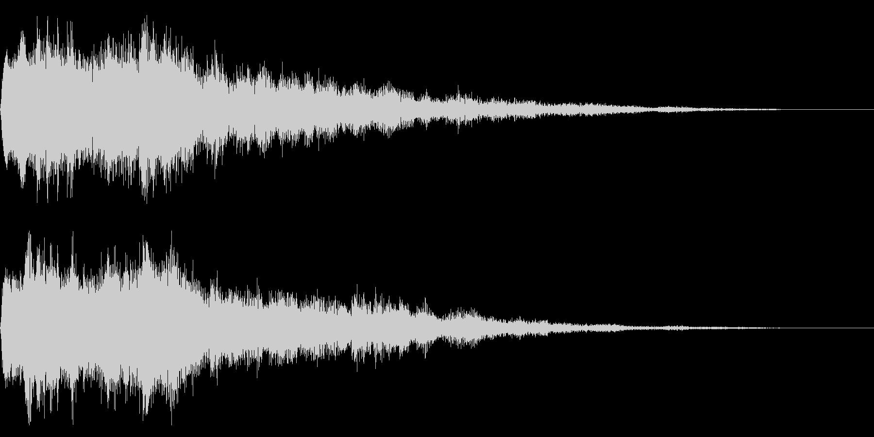 セレクト音 決定音 選択 起動 開始の未再生の波形