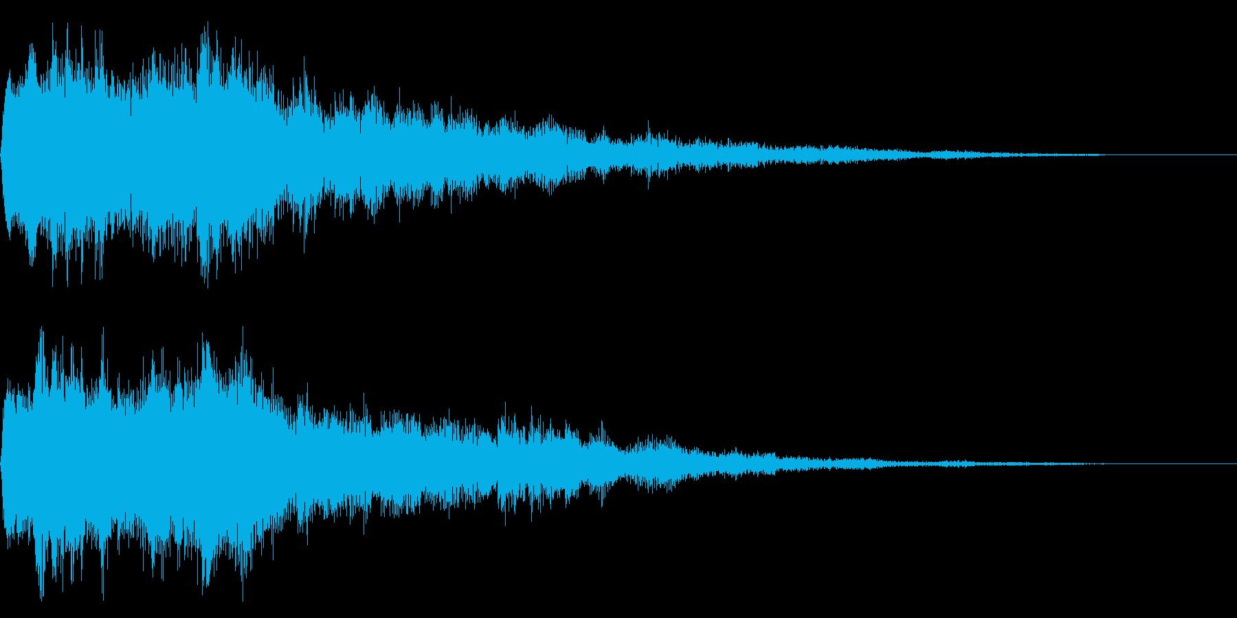 セレクト音 決定音 選択 起動 開始の再生済みの波形