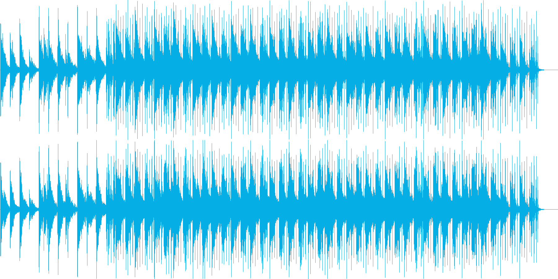幻想的なインストの再生済みの波形