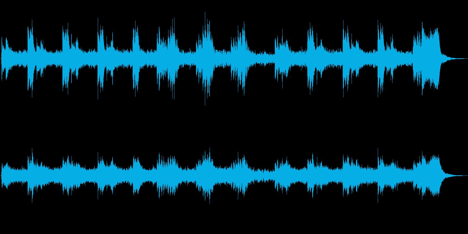 シンセによる奇妙なジングルの再生済みの波形