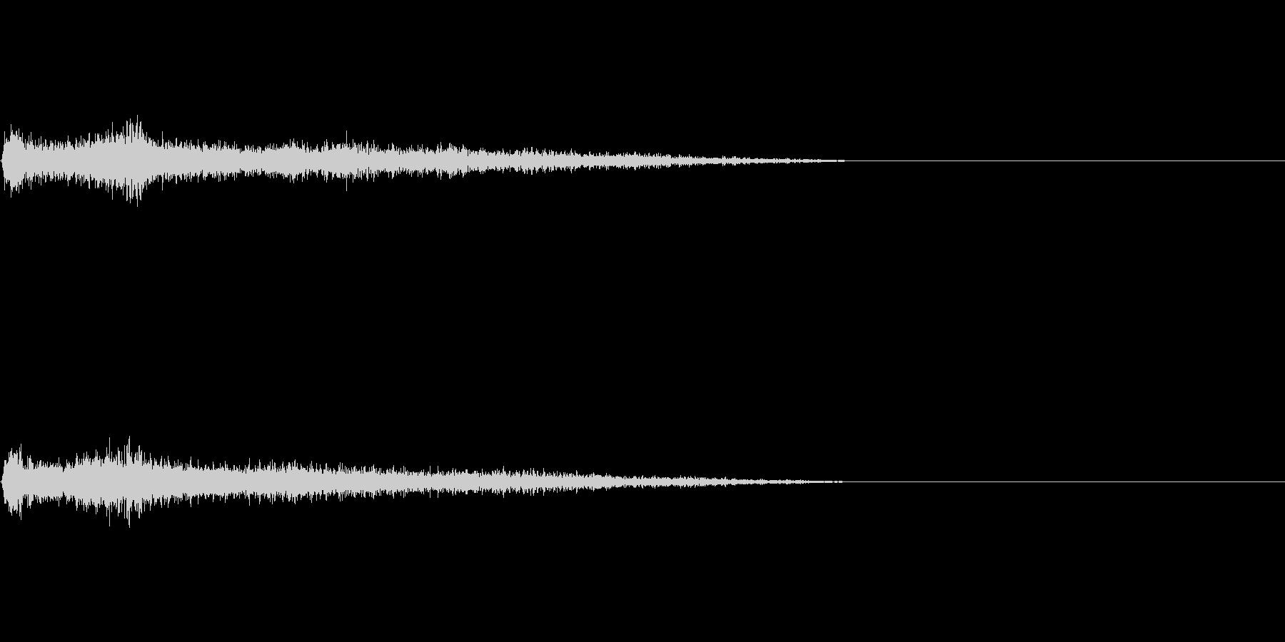 Fマイナー インパクト音 衝撃音の未再生の波形