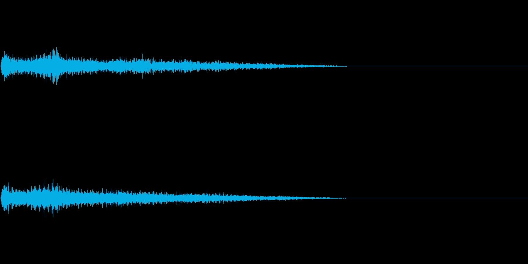 Fマイナー インパクト音 衝撃音の再生済みの波形