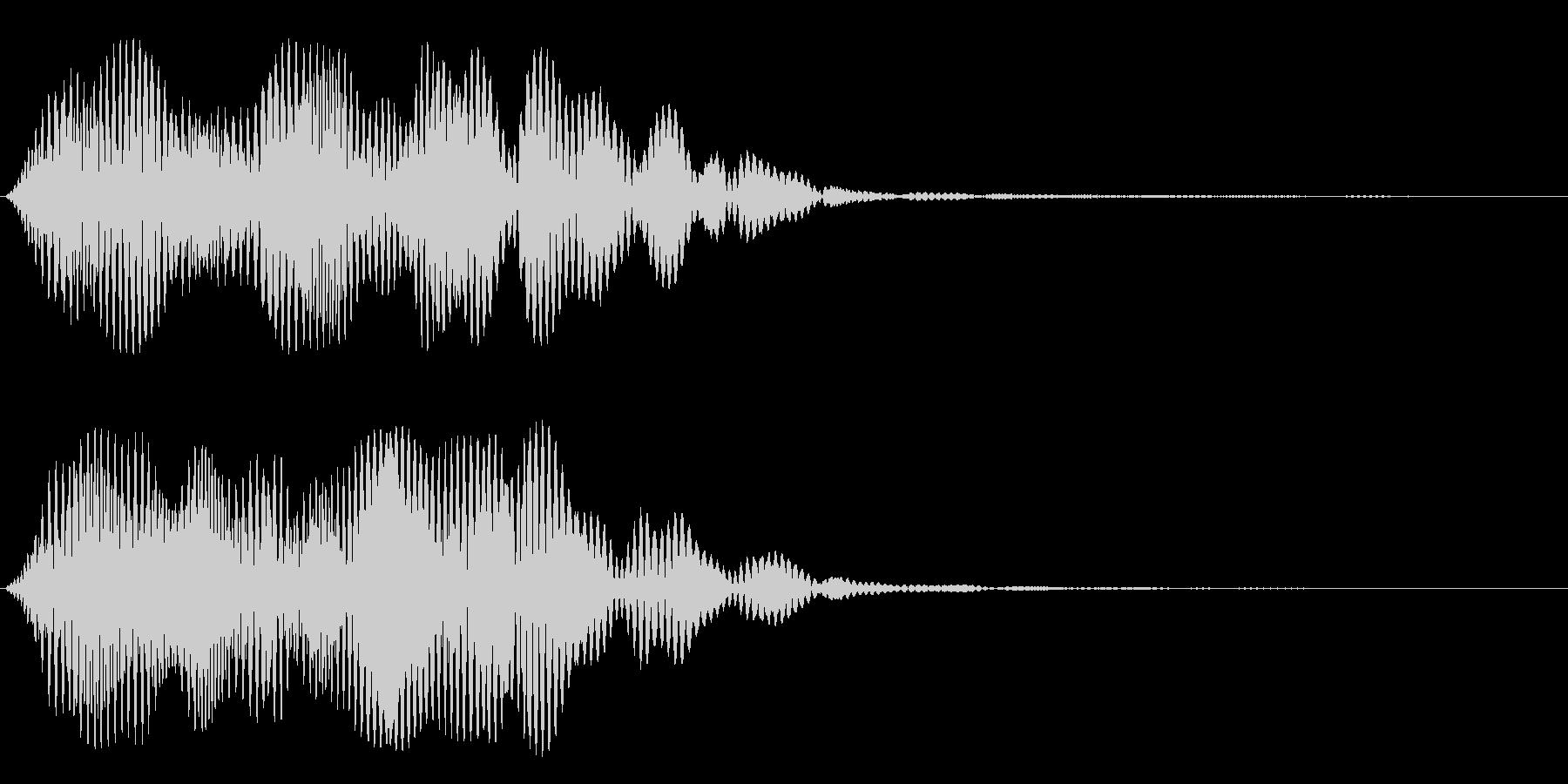 スペーシーな音階のシンセサイザー音の未再生の波形