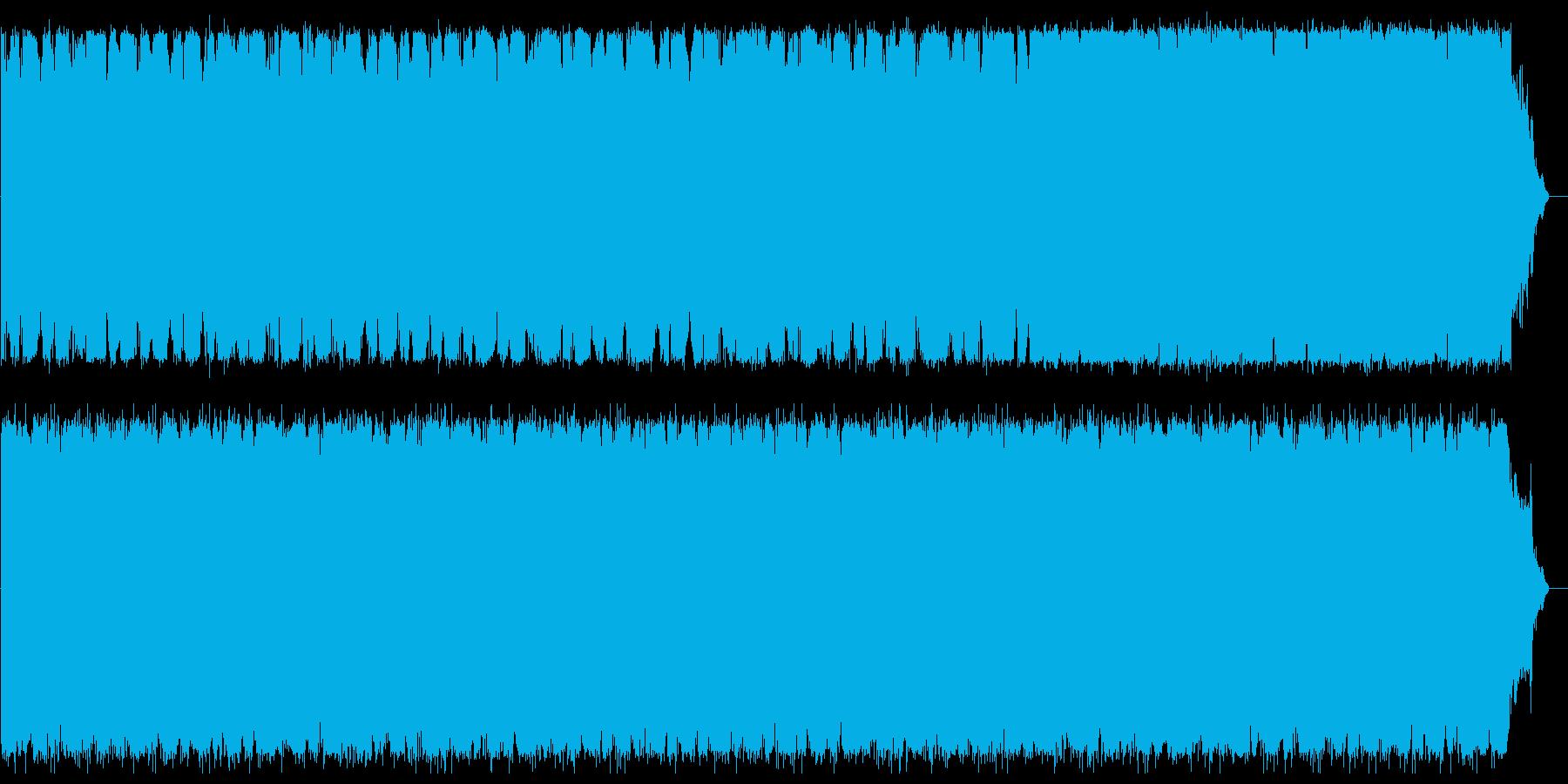 重厚なビートが渦巻く不思議な曲の再生済みの波形