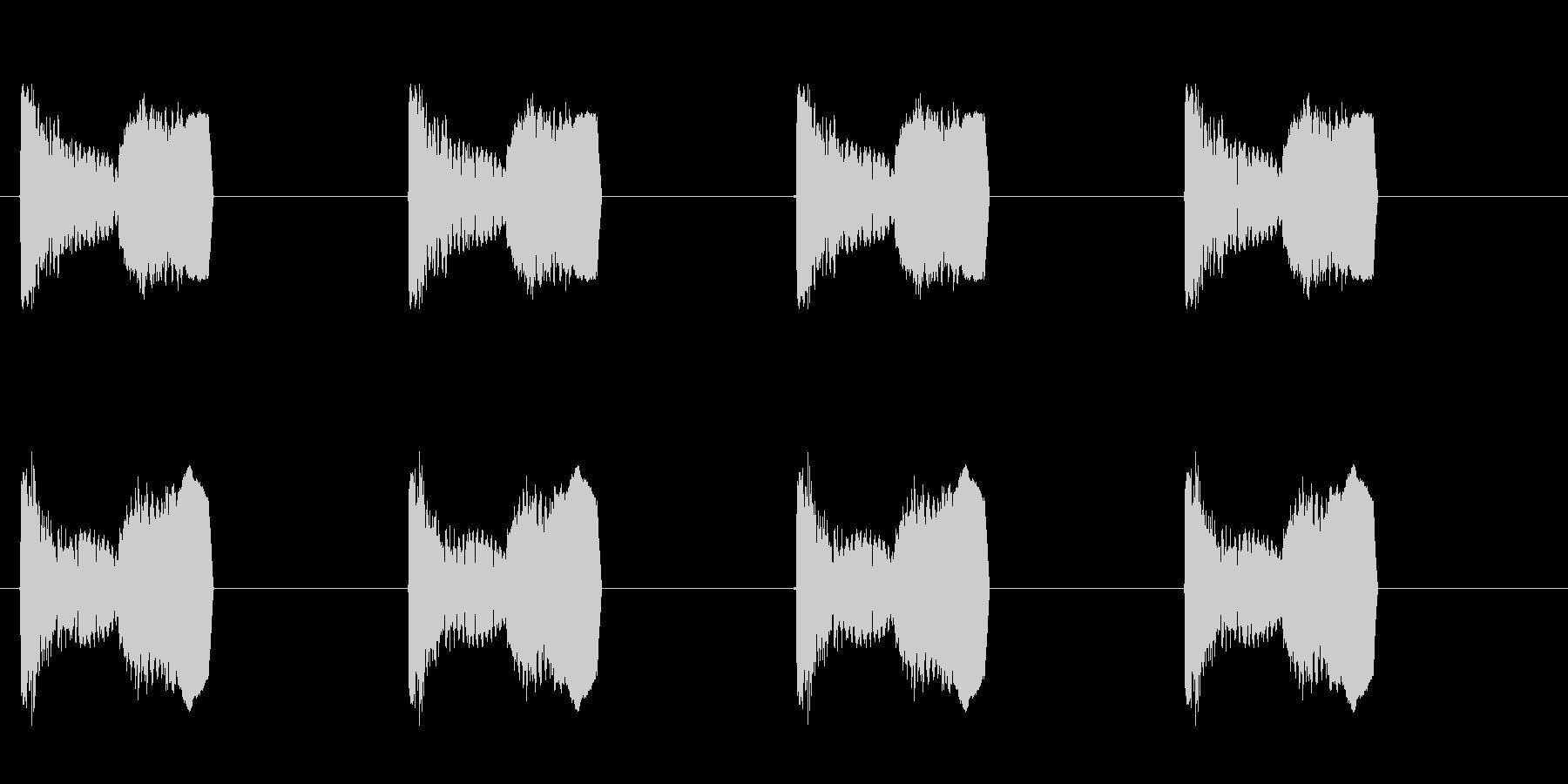 足音 パターンDロング版 コミカル プニの未再生の波形