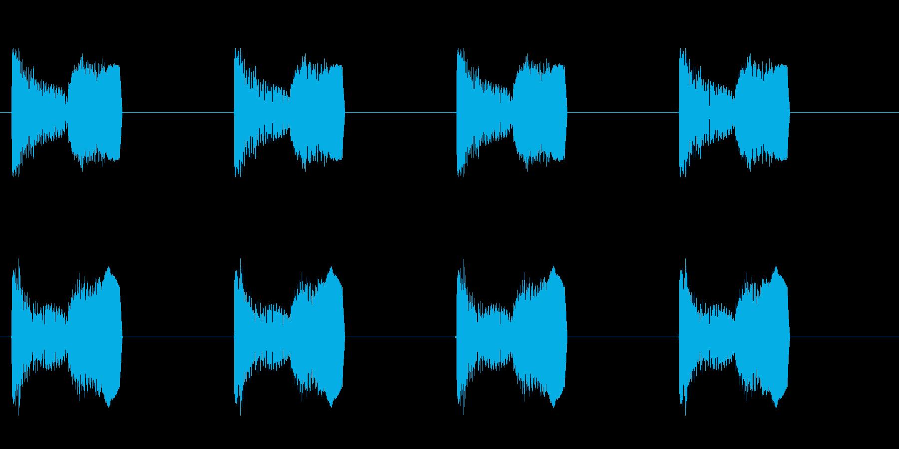 足音 パターンDロング版 コミカル プニの再生済みの波形