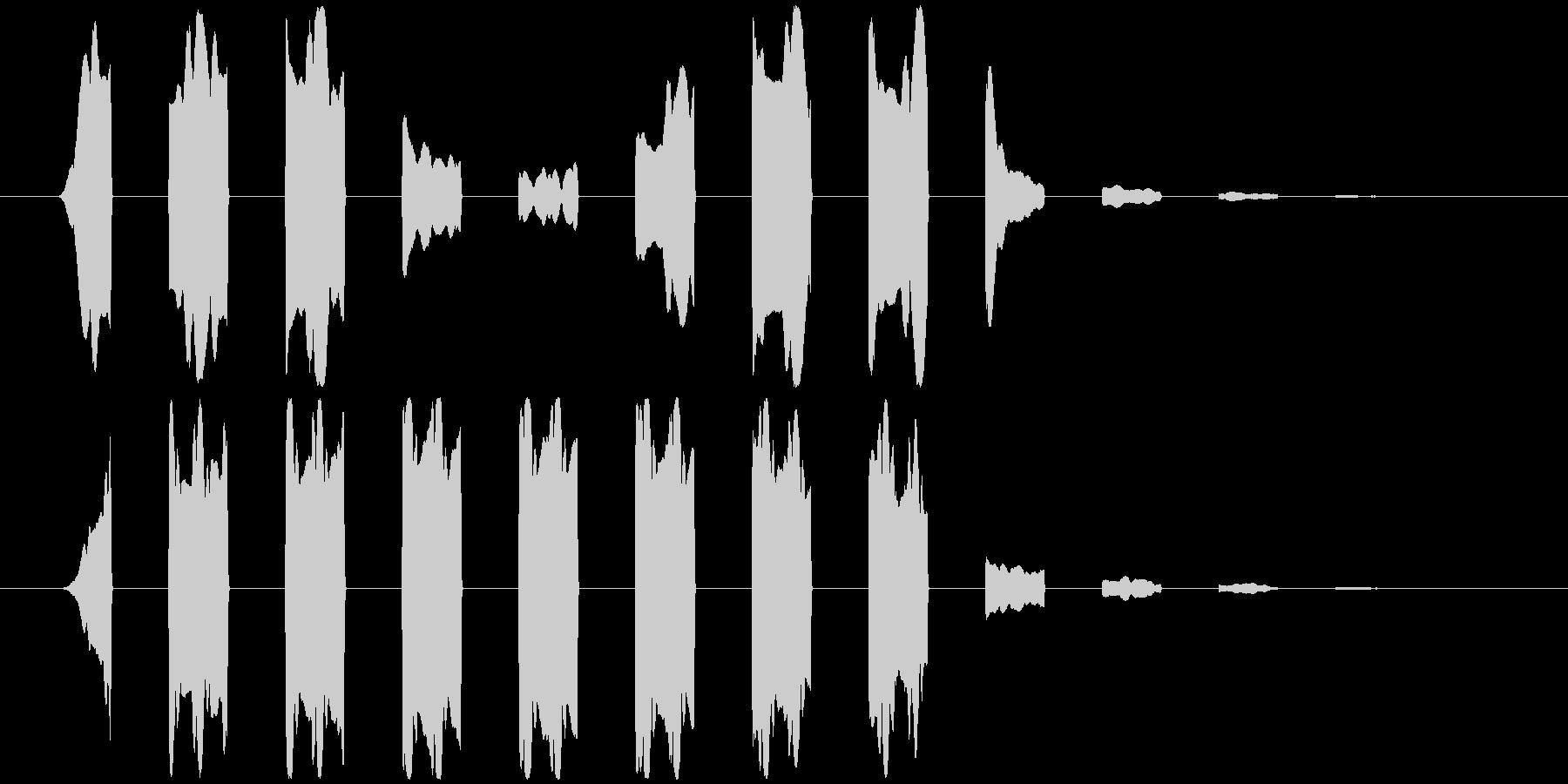 パッの連音(通り過ぎる感じの音)の未再生の波形