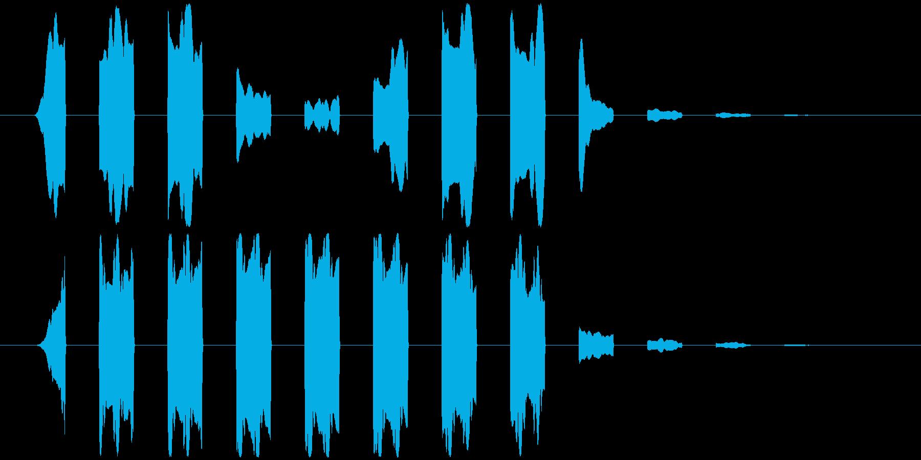 パッの連音(通り過ぎる感じの音)の再生済みの波形