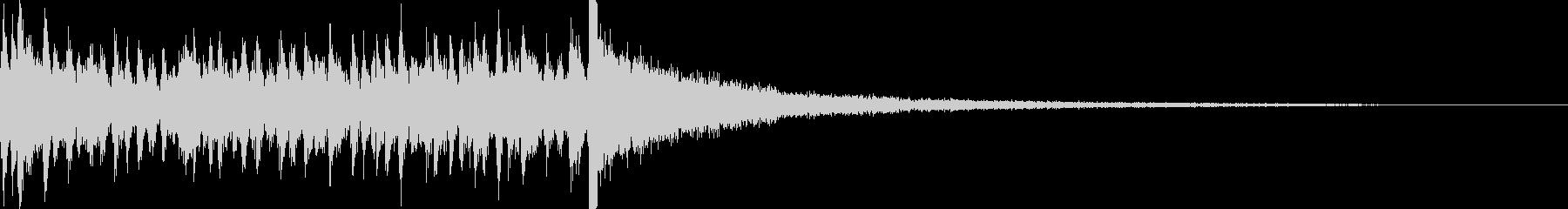 3秒でシンバルが鳴るドラムロール 豪華の未再生の波形