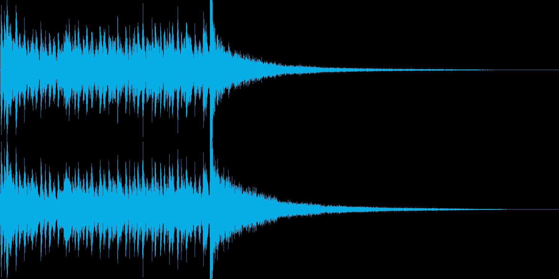 3秒でシンバルが鳴るドラムロール 豪華の再生済みの波形