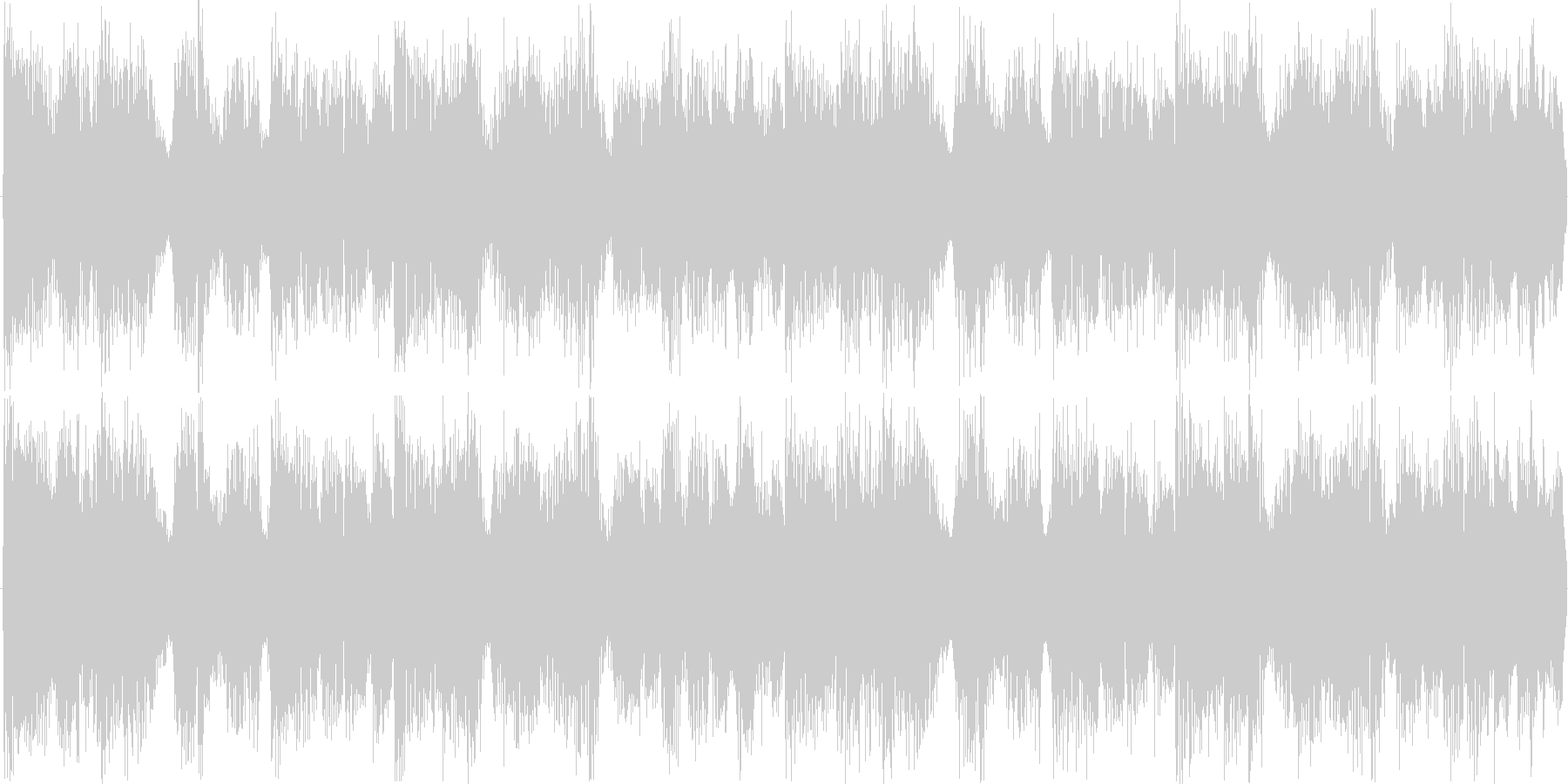 ドラムンベースを基本にした楽曲です。の未再生の波形