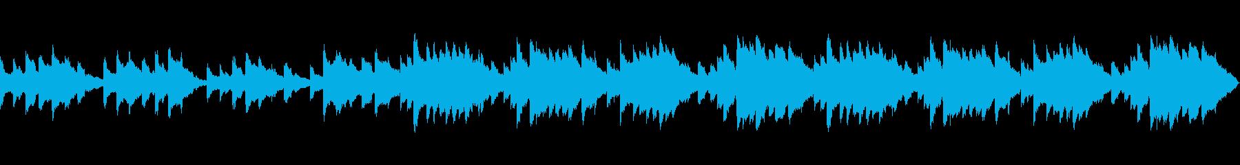 しんみりした寂しいオルゴール曲の再生済みの波形