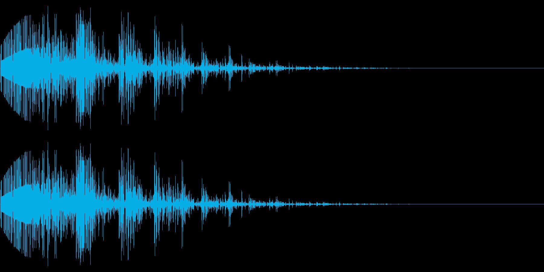 ノイズで作った爆発音の再生済みの波形