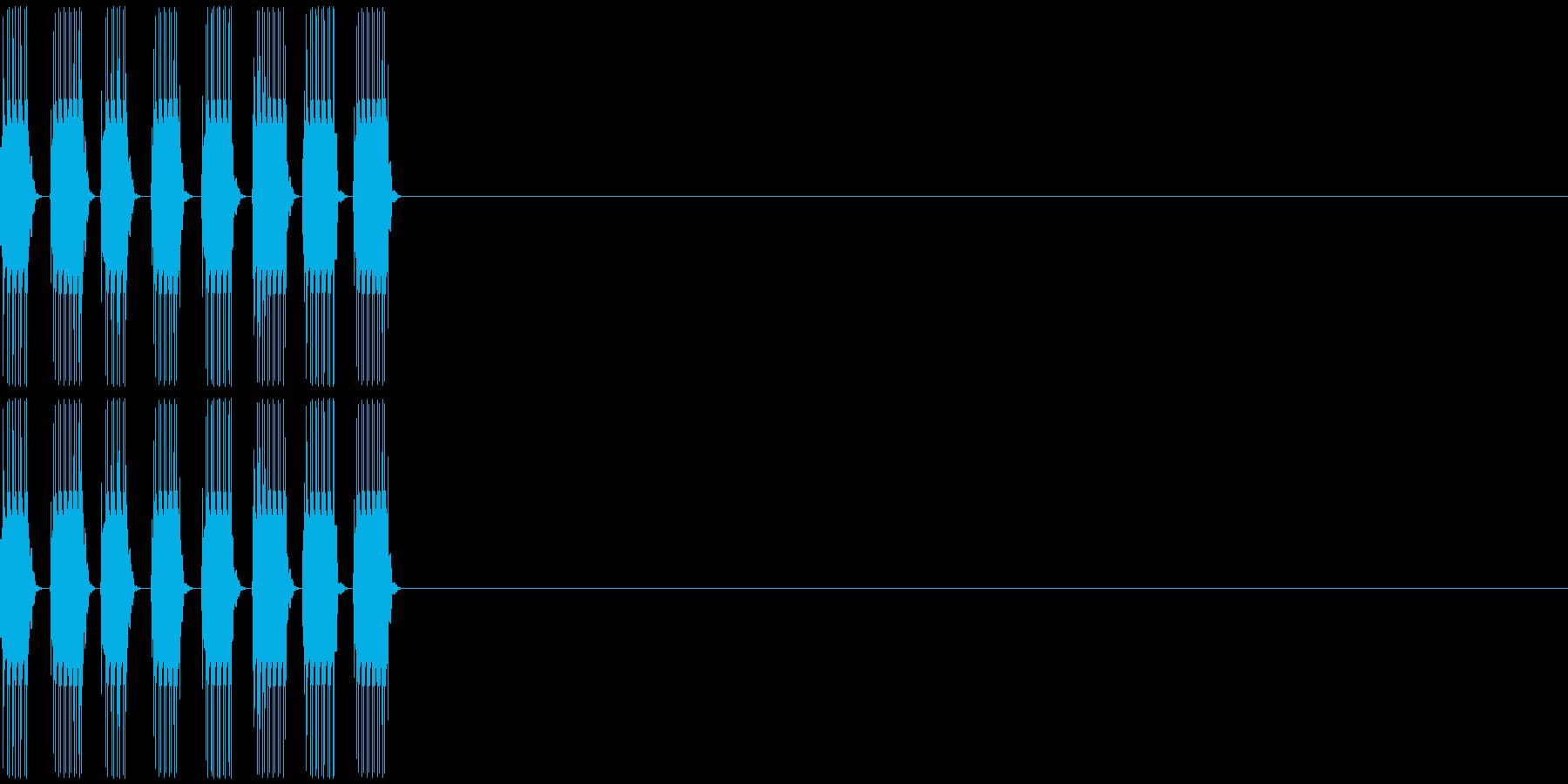 クルルの再生済みの波形