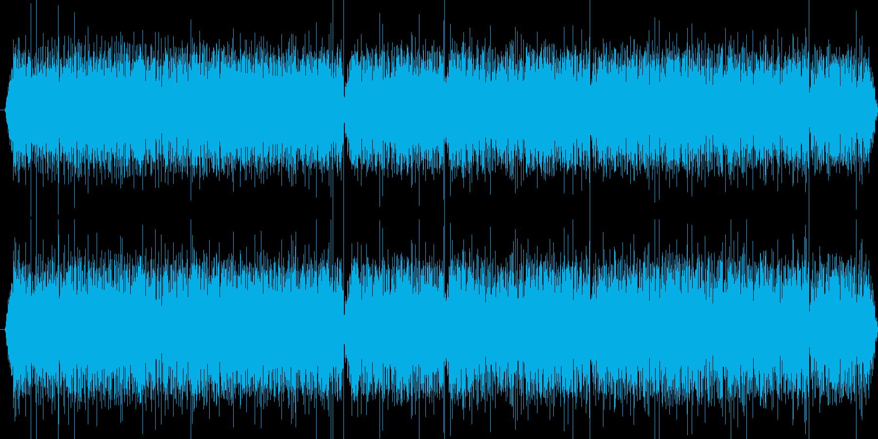 B747の飛行中の音の再生済みの波形