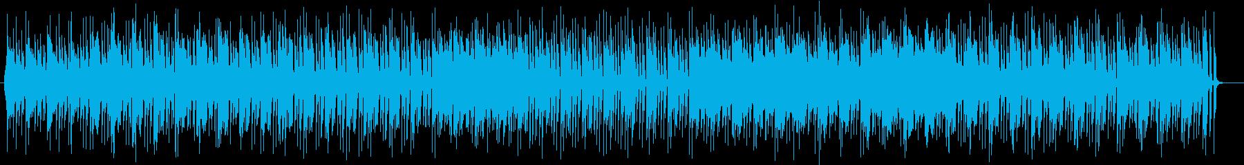 爽やかなリラクゼーションミュージックの再生済みの波形