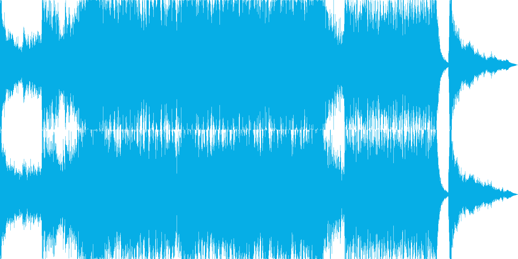 日本的で和風で勇壮なオーケストラジングルの再生済みの波形