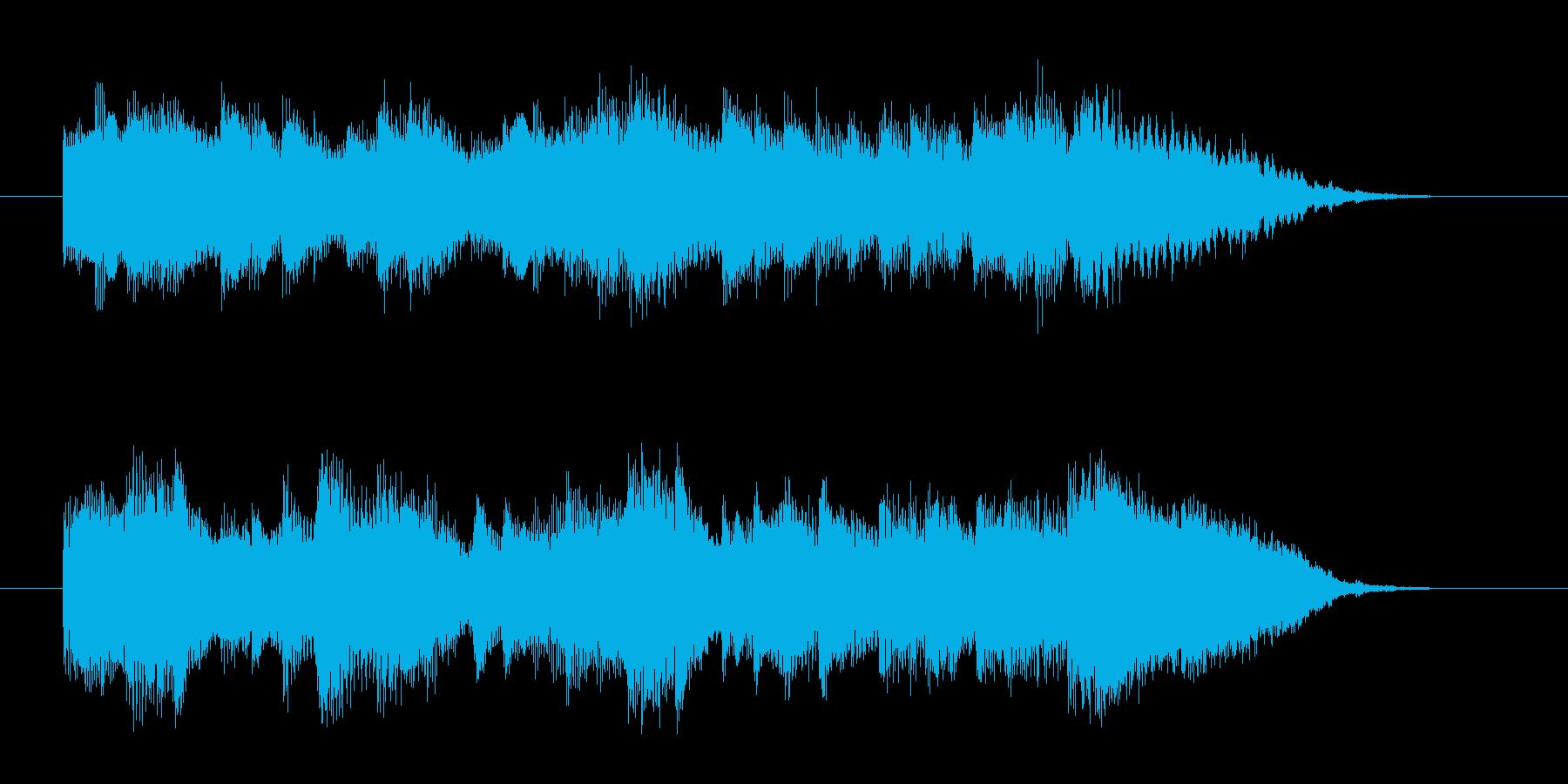 アコースティックギターによるジングルの再生済みの波形