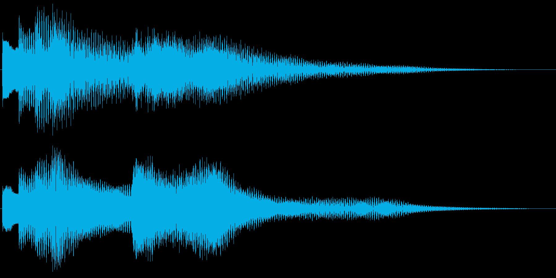 ジングル・お知らせ(ベル)の再生済みの波形