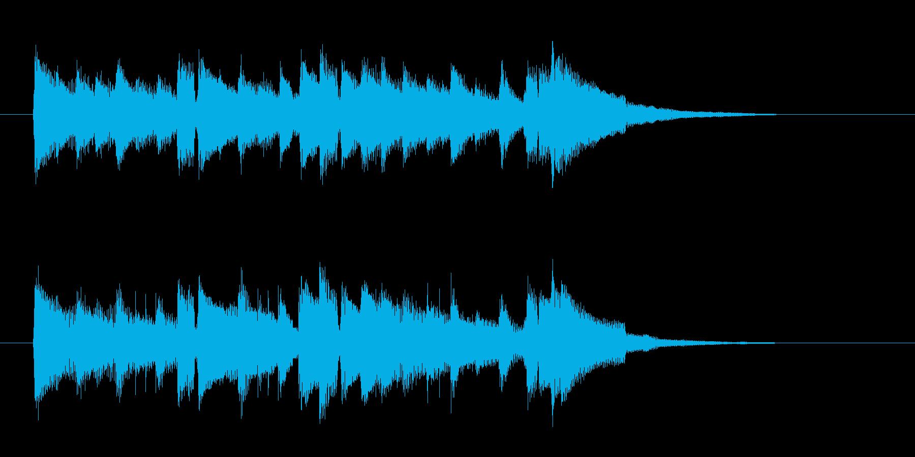 アコギによる優しい雰囲気のジングル曲の再生済みの波形