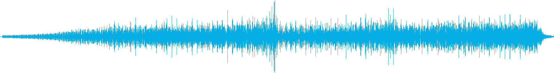 ホラーの緊迫状態を表すBGMの再生済みの波形