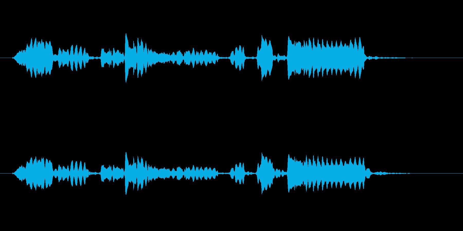 美しくゆったりした管楽器サウンドの再生済みの波形