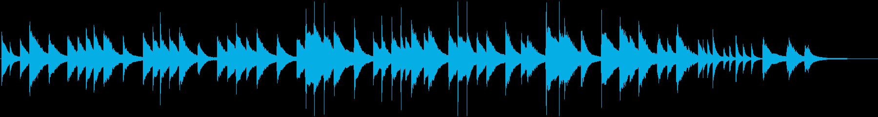 繊細でメロディアスなピアノバラードの再生済みの波形