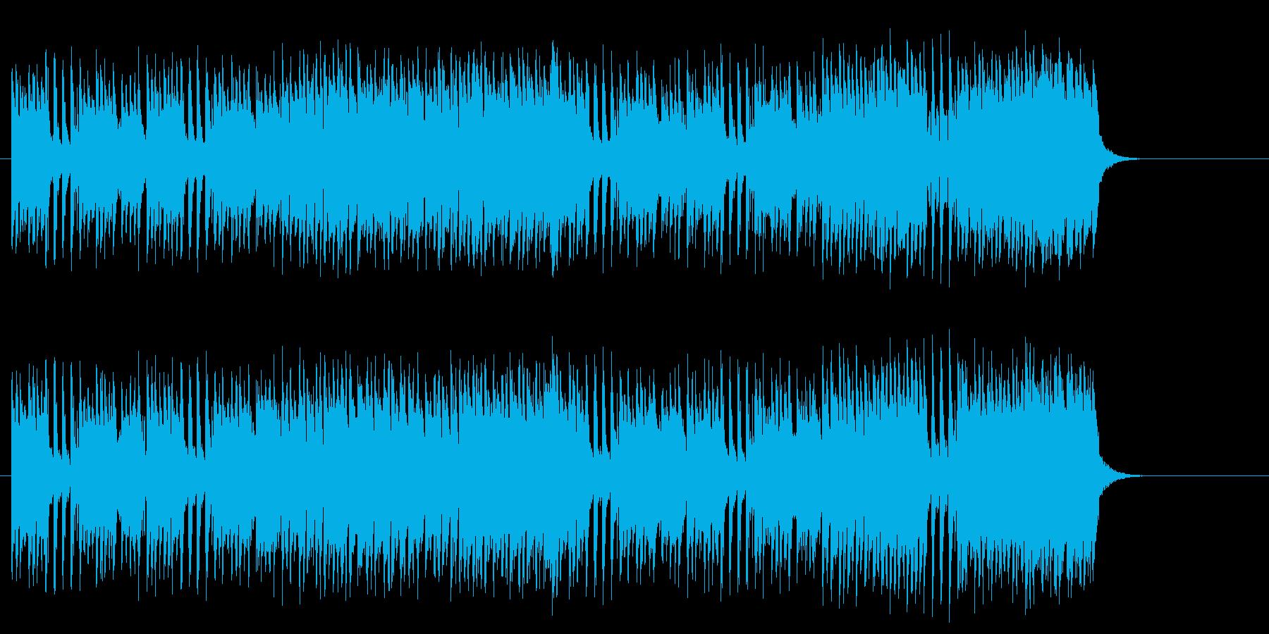 賑やかなコミカル・サウンドの再生済みの波形