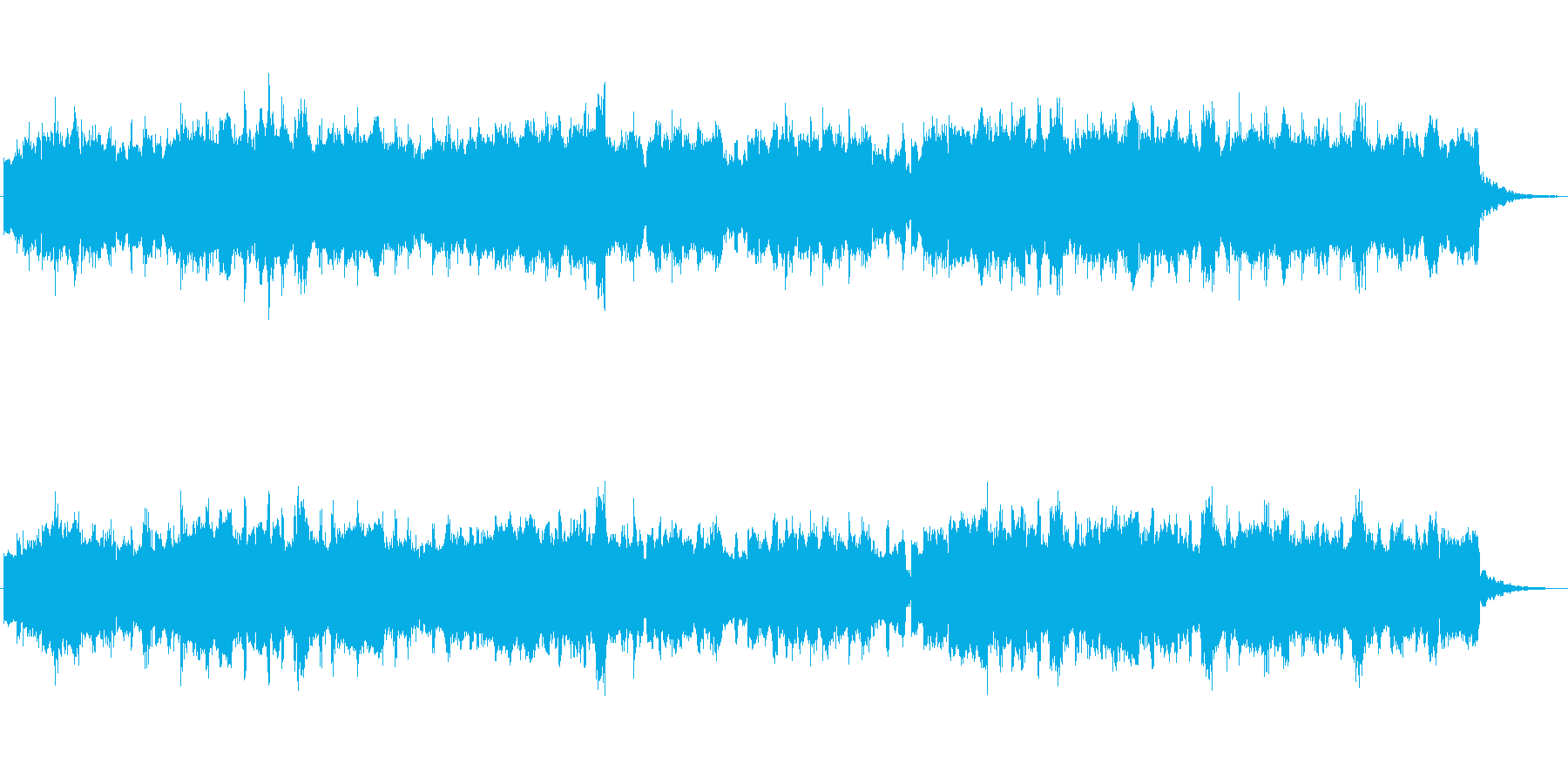 オルガンの物悲しい雰囲気のジングルの再生済みの波形