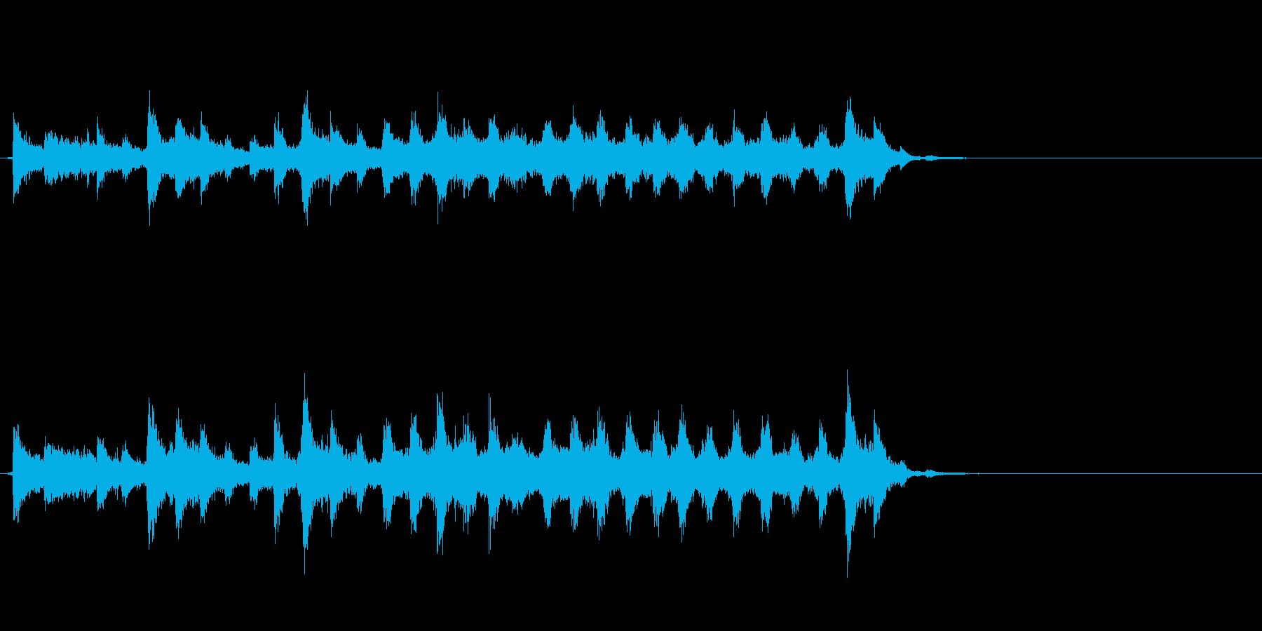 『チャッパ』和製シンバルのフレーズ2FXの再生済みの波形