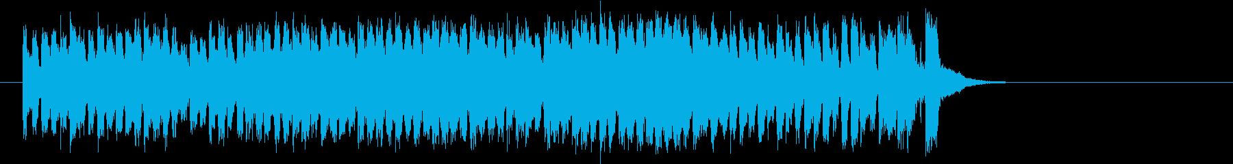 爽快な8ビート・ポップス(サビ)の再生済みの波形