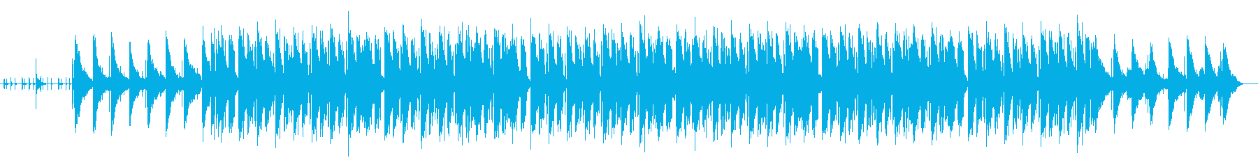 まったりした落ち着きのあるBGMの再生済みの波形