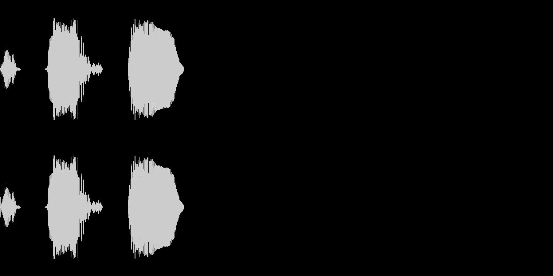 モンスターの鳴き声 2(鳥系)の未再生の波形