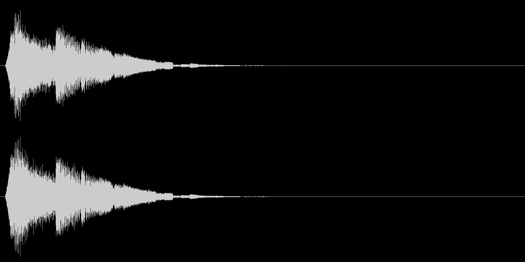 タッチ音/キラキラ/アプリの未再生の波形