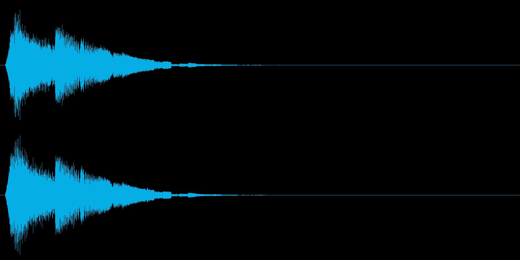 タッチ音/キラキラ/アプリの再生済みの波形