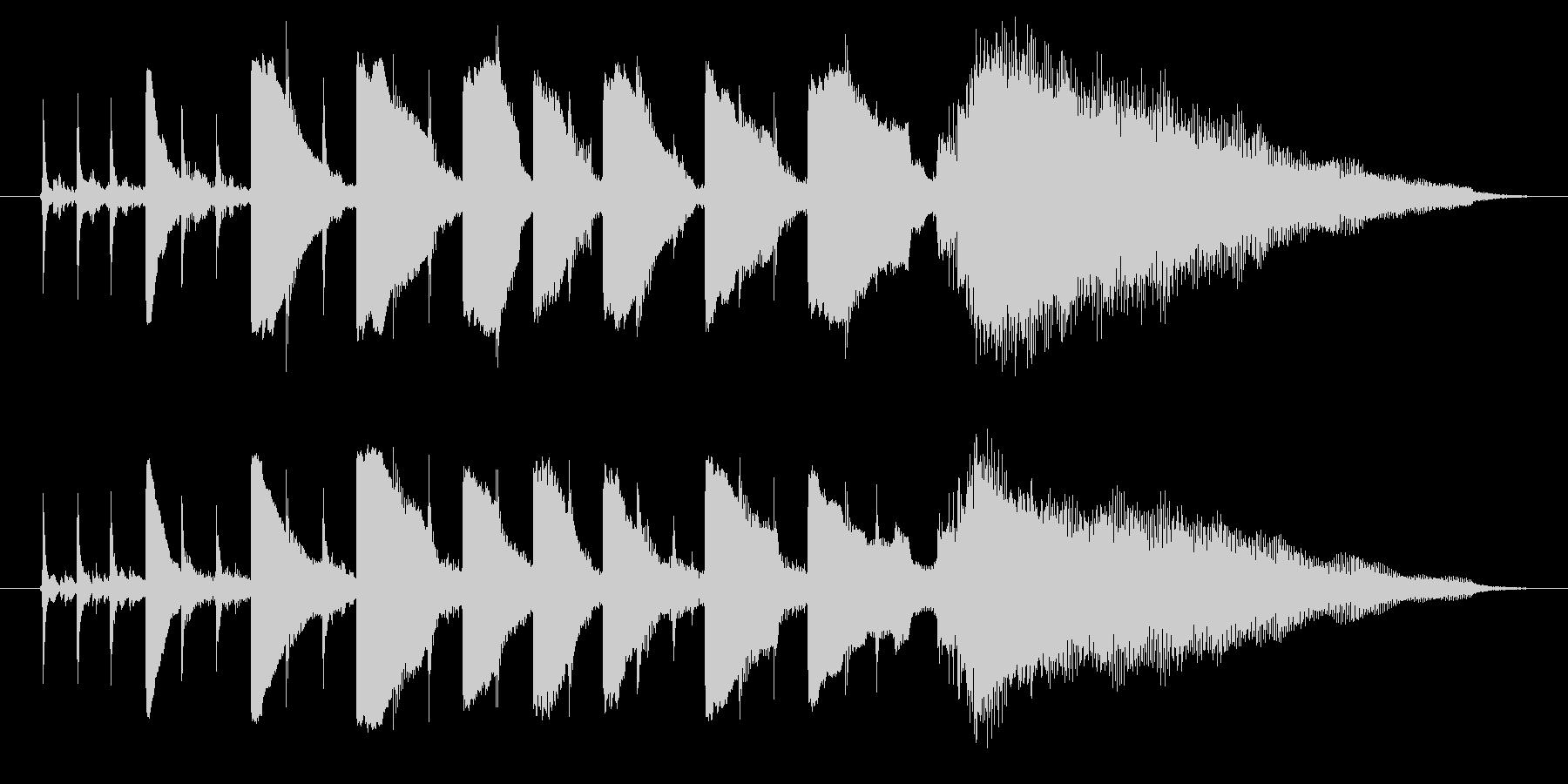海外ドラマ風 エレキギターミュートコードの未再生の波形