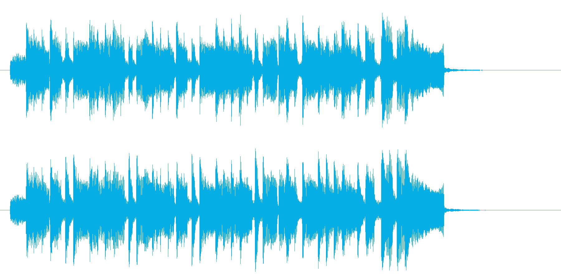 楽しくて軽やかなポップ曲の再生済みの波形