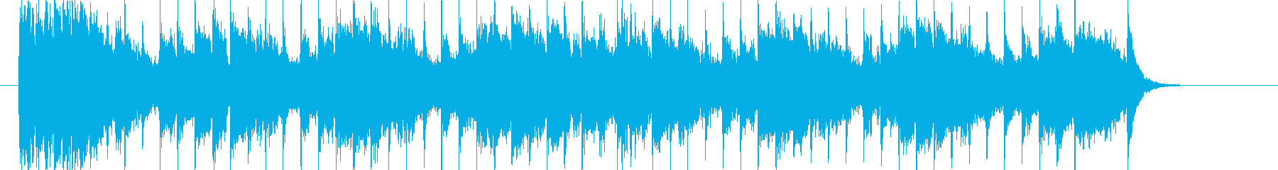 シンプルなメロディが活きるシンセソングの再生済みの波形