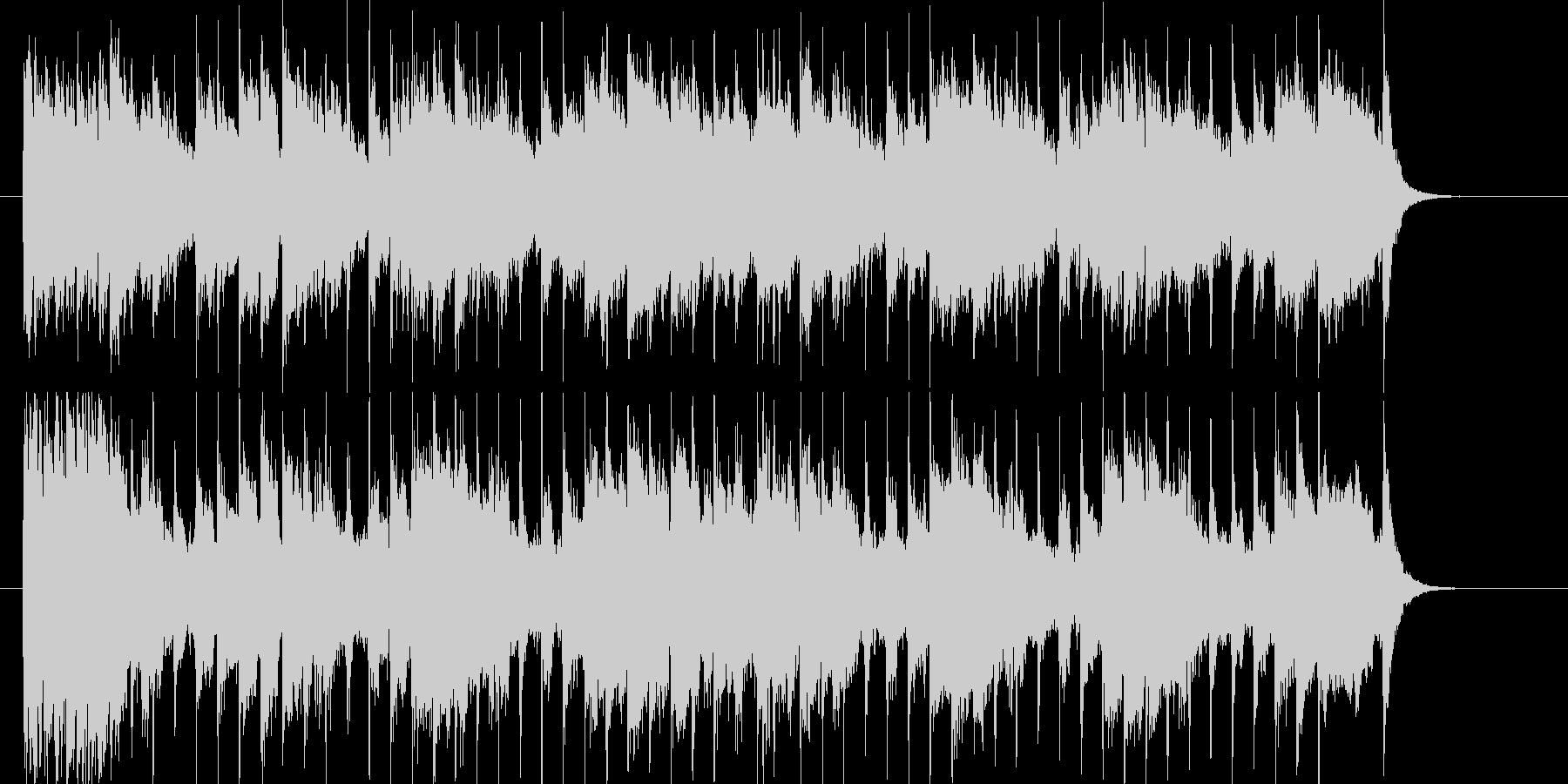 シンプルなメロディが活きるシンセソングの未再生の波形