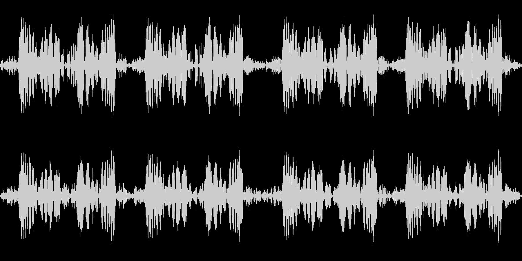 ズビズビ(レコードスクラッチ4回)の未再生の波形
