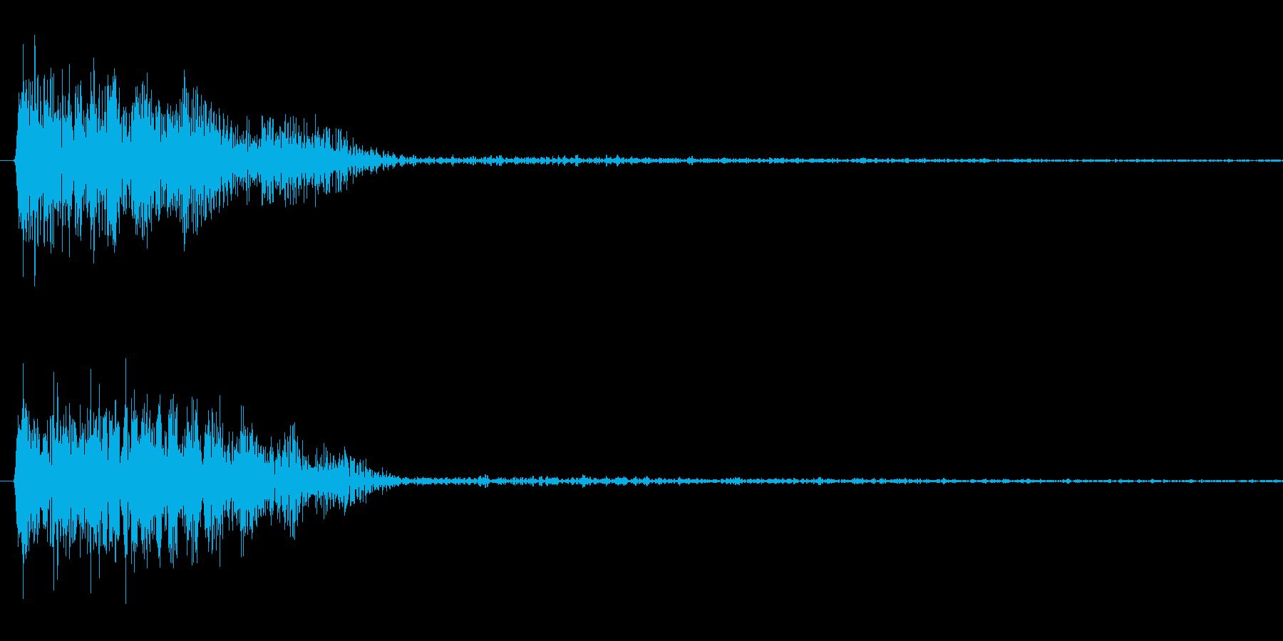 チューン(レーザーガン発射音)の再生済みの波形