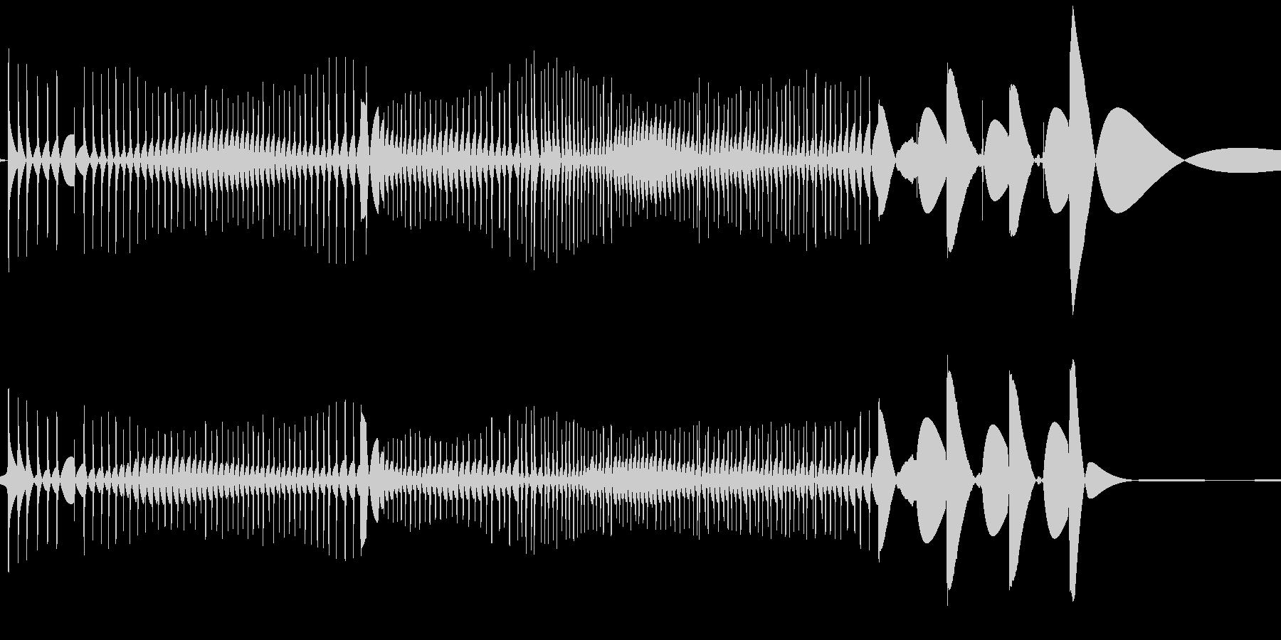 レコード針が横にすれた時の音の未再生の波形