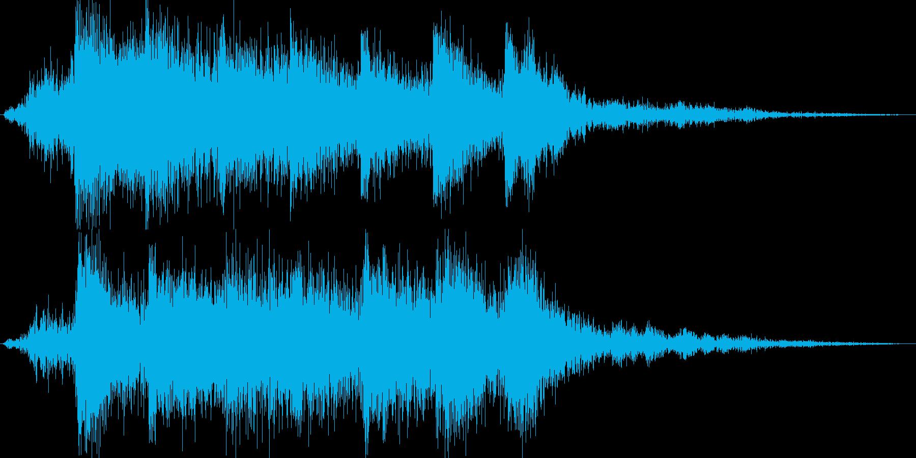 1.2秒サウンドロゴの再生済みの波形