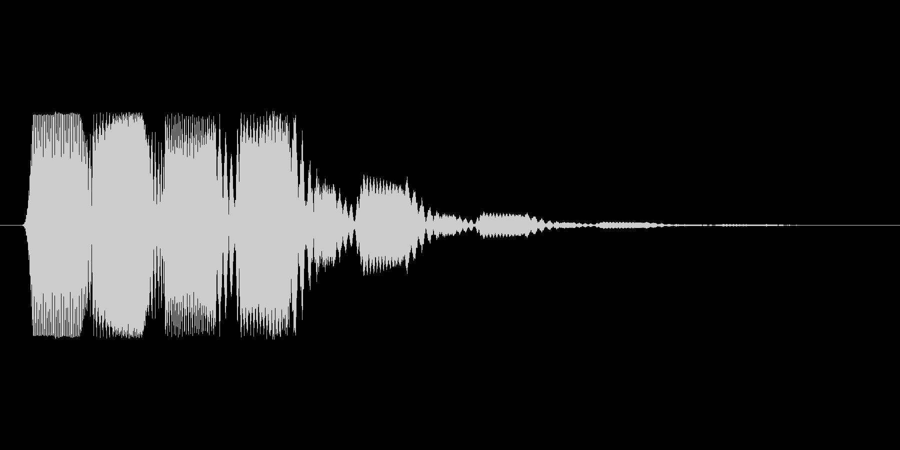 ファミコン風効果音決定音系です 18の未再生の波形