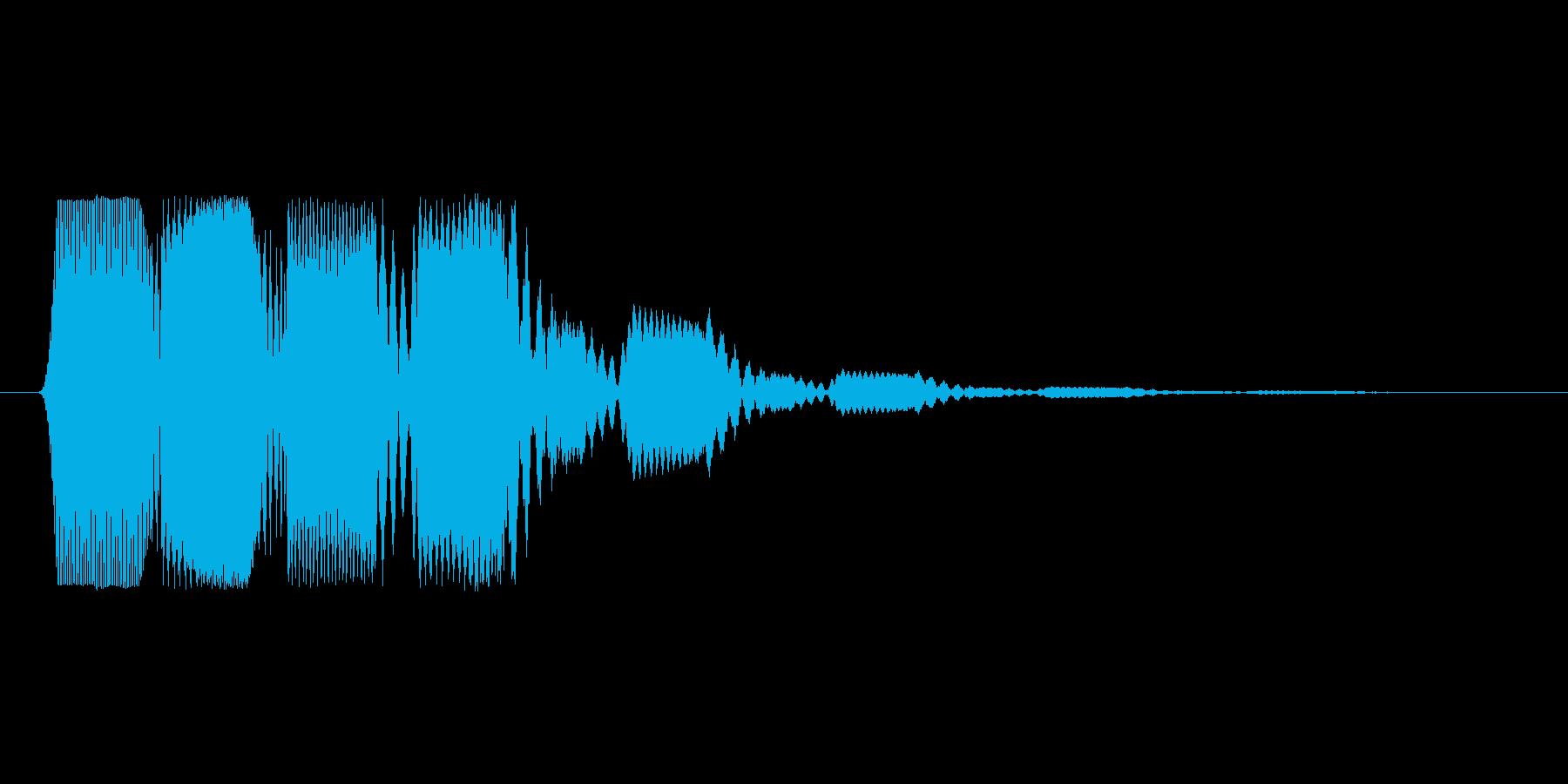 ファミコン風効果音決定音系です 18の再生済みの波形
