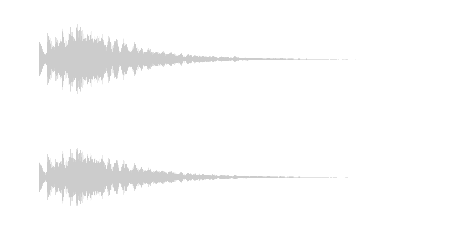ポロロロン(エレピのジングル)の未再生の波形
