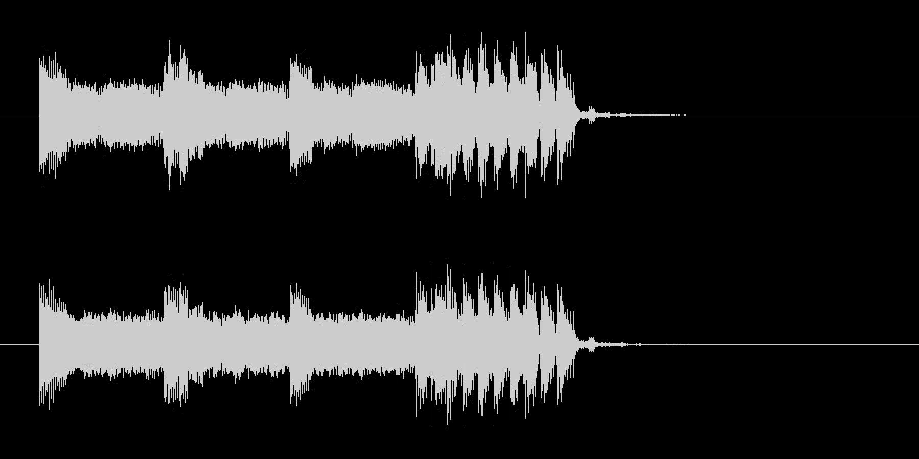 ワイルドなロックンロールギターBGMの未再生の波形