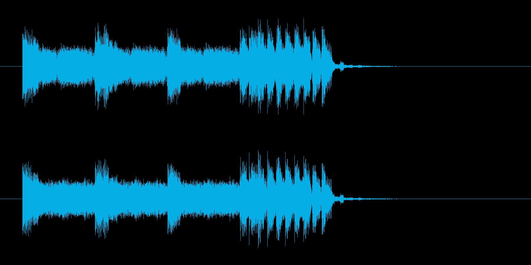 ワイルドなロックンロールギターBGMの再生済みの波形