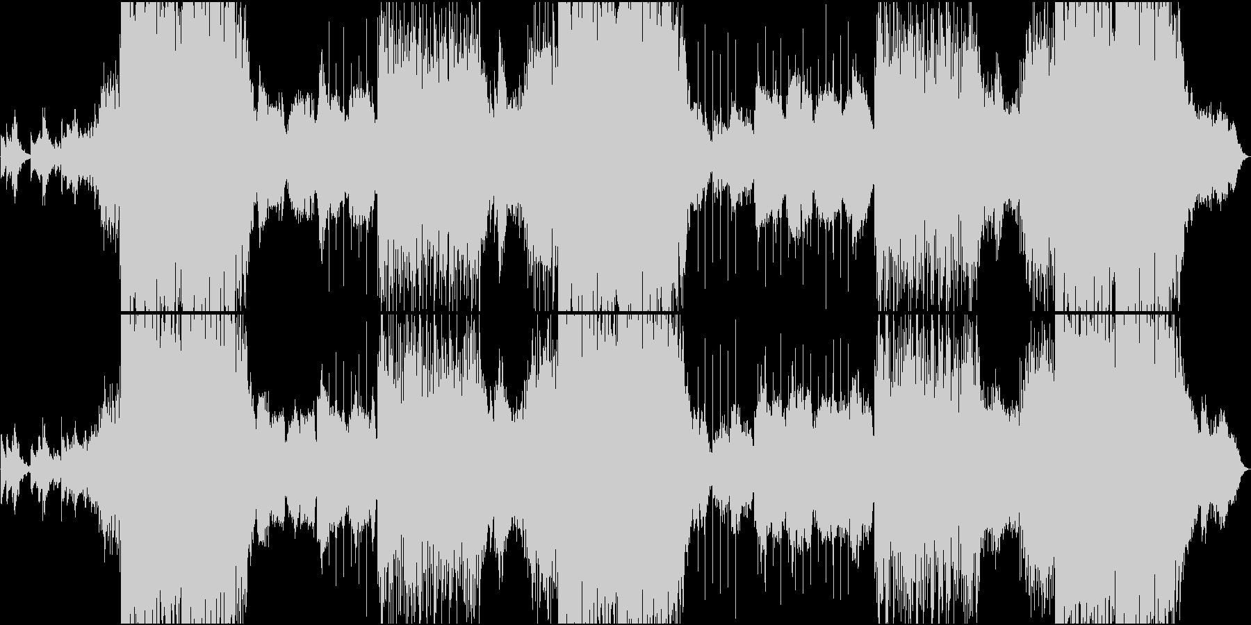 EDM静・動が交錯する切ないメロの楽曲の未再生の波形