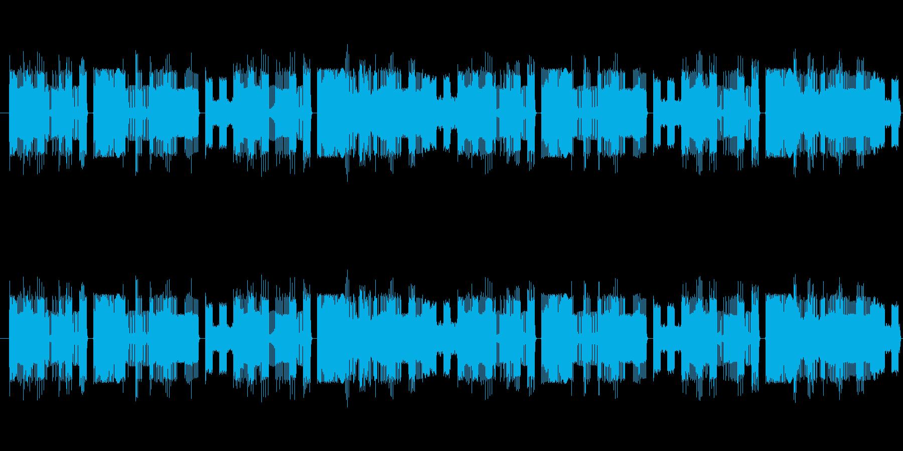 のんびり・不思議なファミコン風BGMの再生済みの波形